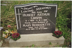Headstone of Hubert and Mary Crispin, Puhoi Cemetery - This image may be subject to copyright