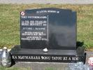 Gravestone, Kauae Cemetery, Rotorua (photo Sarndra Lees, February 2010) - This image may be subject to copyright