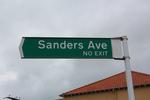 Street sign, Sanders Avenue, Takapuna, Auckland (photo John Halpin August 2013) - CC BY John Halpin