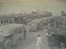 Trains, Ambulances, people, with photographs of the Grand Central Hotel Helwan Egypt (cWW2) from collections of Jack and Madge (nee Tyson) Callaghan - This image may be subject to copyright