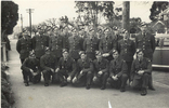 Group, Ground Training in Rotorua, May 1942, informally posed on the street. Morley middle row, third from right. - This image may be subject to copyright