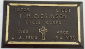 Cemetery plaque, Hamilton Park Cemetery (kindly provided by David Josland 2011) - No known copyright restrictions