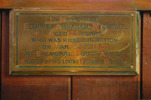 Memorial plaque, St Mark's Anglican Church (photo J. Halpin September 2011) - No known copyright restrictions