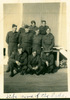 """Group, WW2, 10 soldiers outside barracks, annotated """"Sid & some of the lads"""" [Trentham Camp c.1940] - This image may be subject to copyright"""