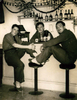 Group, three soldiers, K Force, Japan in a bar, Jack Samuel Winter (203999) (middle) R&R Tokyo 1952 - This image may be subject to copyright