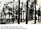Tent (Social Club) at Maadi, Egypt, 1941-43. - This image may be subject to copyright