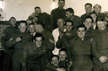 Group, K Force – 20 soldiers, Jack Samuel Winter (203999) (back row, 2nd from right) in bar at Burnham 1953 - This image may be subject to copyright