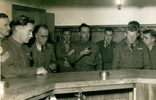 Group, K Force - 9 soldiers, Jack Samuel Winter (203999) (2nd from left) in Sergeant's mess at Burnham 1953 - This image may be subject to copyright