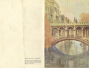 Menu, outside pages: HMT Strathhaird (P&O), Bridge of Sighs illustration, dated Saturday January 20th 1940. Image may be subject to copyright.