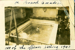 """Swimming pool, [Orcades] annotated """"one of the officers bathing 1940"""" - This image may be subject to copyright"""