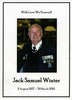 Funeral Order of service, Jack Samuel Winter (203999) front page of funeral programme 2010 - This image may be subject to copyright