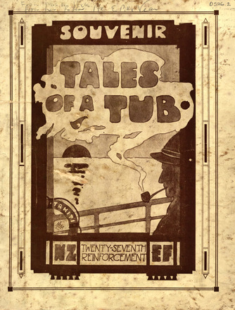 """HMNZT 87 Tahiti - Tales of a tub : being the story of the ways and woes of that portion of the Twenty-seventh Reinforcement on board H.M.N.Z.T. No. 87, """"Tahiti"""" -- Capetown : Cape Times Ltd., printers : 1917. No Known Copyright Restrictions."""