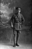 Full length portrait of Lieutenant Frederick Arthur Airey. Reg No 30102, - E Company. (Photographer: Herman Schmidt, 1916). Sir George Grey Special Collections, Auckland Libraries, 31-A3313. No known copyright.