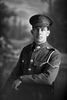 3/4 portrait of Lance -Corporal Charles Basil Beeson Reg No 26535 of the 8th Reinforcements to the 4th Battalion - H Company, New Zealand Rifle Brigade. Killed in action in France 8 Sep 1918. (Photographer: Herman Schmidt, 1916). Sir George Grey Special Collections, Auckland Libraries, 31-B1855. No known copyright.