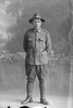 Full portrait of Trooper Stanley Martyn Barriball, Reg No 43180, New Zealand Mounted Rifles, 26th Reinforcements. (Photographer: Herman Schmidt, 1917). Sir George Grey Special Collections, Auckland Libraries, 31-B3535. No known copyright.