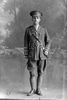 Full length portrait of Lieutenant (later Captain) Eric Spencer Bayley, Reg No 3/2990. (Photographer: Herman Schmidt, 1917). Sir George Grey Special Collections, Auckland Libraries, 31-B3548. No known copyright.