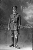 Full length portrait of 2nd Lieutenant Edward Aroha Boscawen, Reg No 16515, of the New Zealand Mounted Rifles, 24th Reinforcements. (Photographer: Herman Schmidt, 1917). Sir George Grey Special Collections, Auckland Libraries, 31-B3013. No known copyright.
