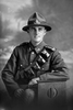 3/4 portrait of Gunner Jack Gardiner Dale of the New Zealand Field Artillery, No. 2 Brigade Ammunition Column (Egypt), 2nd Field Artillery Battery. (Photographer: Herman Schmidt, 1916). Sir George Grey Special Collections, Auckland Libraries, 31-D1540. No known copyright.