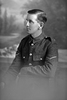 3/4 portrait of Lance Corporal M Finlayson of the New Zealand Mounted Rifles (Photographer: Herman Schmidt, 1916). Sir George Grey Special Collections, Auckland Libraries, 31-F391. No known copyright.