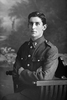 3/4 portrait of Gunner E McGowan of the New Zealand Field Artillery (Photographer: Herman Schmidt, 1916). Sir George Grey Special Collections, Auckland Libraries, 31-G2749. No known copyright.
