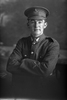 1/2 portrait of Alfred Sydney Impey, Reg No 17414, of the New Zealand Mounted Rifles, 18th Reinforcements. (Photographer: Herman Schmidt, 1916). Sir George Grey Special Collections, Auckland Libraries, 31-I2035. No known copyright.