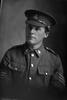 3/4 portrait of Sergeant  (later 2nd Leiutenant) Alban Brittain Jackson, Reg No 12/2613, with the 6th Reinforcements, Auckland infantry Battalion, New Zealand Signal Corps. Killed in action in France 29 August 1918. (Photographer: Herman Schmidt, 1915). Sir George Grey Special Collections, Auckland Libraries, 31-J1863. No known copyright.