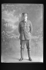 Full length portrait of Private W H Johnstone of the 20th Reinforcements (Photographer: Herman Schmidt, 1916). Sir George Grey Special Collections, Auckland Libraries, 31-J3167. No known copyright.