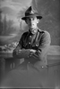 3/4 portrait of Private Huckstep with the New Zealand Engineers, New Zealand Post and Telegraph Corps. (Photographer: Herman Schmidt, 1916). Sir George Grey Special Collections, Auckland Libraries, 31-H647. No known copyright.