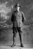 Full length portrait of Private Huckstep with the New Zealand Engineers, New Zealand Post and Telegraph Corps. (Photographer: Herman Schmidt, 1916). Sir George Grey Special Collections, Auckland Libraries, 31-H648. No known copyright.