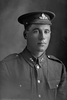 1/4 portrait of Gunner Herman Lennan, Reg No 2/2860, of the New Zealand Field Artillery, 10th Reinforcements. (Photographer: Herman Schmidt, 1916). Sir George Grey Special Collections, Auckland Libraries, 31-L697. No known copyright.