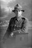 3/4 portrait of Private James Duncan McLeod, Reg No 12/3761, of the Auckland Infantry Battalion, - A Company, 9th Reinforcements. (Photographer: Herman Schmidt, 1916). Sir George Grey Special Collections, Auckland Libraries, 31-L703. No known copyright.
