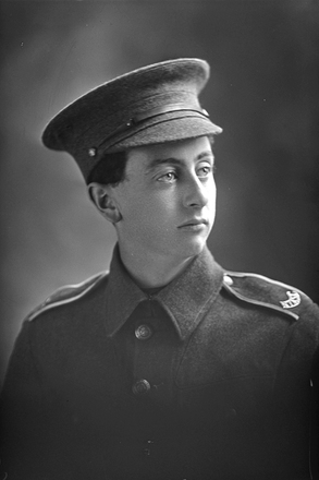 1/4 portrait of Private Little of the New Zealand Army Service Corps. (Photographer: Herman Schmidt, 1915 1916). Sir George Grey Special Collections, Auckland Libraries, 31-L719. No known copyright.