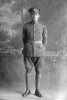 Full length portrait of Quartermaster Sergeant George Lorimer, Reg No 32534, of the 21st Reinforcements, - E Company. (Photographer: Herman Schmidt, 1916|1917). Sir George Grey Special Collections, Auckland Libraries, 31-L3407. No known copyright.