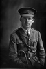 3/4 portrait of 2nd Lieutenant Martin Driscoll Rohan, Reg No 27692, of the New Zealand Rifle Brigade, 10th Reinforcements to the 3rd Battalion, - G Company. (Later T/Captain). Killed in action in France on the 22nd August 1918, Mentioned in Despatches. (Photographer: Herman Schmidt, 1916). Sir George Grey Special Collections, Auckland Libraries, 31-R2450. No known copyright.