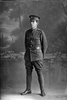 Full length portrait of Private William Alfred Wilson, Reg No 46418, of the Auckland Infantry Regiment, - A Company, 25th Reinforcements. (Photographer: Herman Schmidt, 1917). Sir George Grey Special Collections, Auckland Libraries, 31-W3518. No known copyright.
