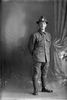Full length portrait of Private William Alfred Wilson, Reg No 46418, of the Auckland Infantry Regiment, - A Company, 25th Reinforcements. (Photographer: Herman Schmidt, 1917). Sir George Grey Special Collections, Auckland Libraries, 31-W4786. No known copyright.
