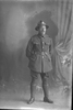 Full length portrait of Private Frederick Robert Walker, Reg No 63973, of the Auckland Infantry Regiment, - A Company, 32nd Reinforcements. (Photographer: Herman Schmidt, 1917). Sir George Grey Special Collections, Auckland Libraries, 31-W4748. No known copyright.