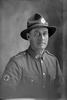 1/4 portrait of Private William Thomas Smith, Reg No 3/3132, of the 24th Reinforcements, New Zealand Medical Corps. (Photographer: Herman Schmidt, 1917). Sir George Grey Special Collections, Auckland Libraries, 31-S3265. No known copyright.