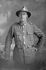 3/4 portrait of Private William Thomas Smith, Reg No 3/3132, of the 24th Reinforcements, New Zealand Medical Corps. (Photographer: Herman Schmidt, 1917). Sir George Grey Special Collections, Auckland Libraries, 31-S3267. No known copyright.