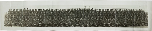Group photograph Third (3rd) Echelon New Zealand Artillery, Papakura 1940 (Panorama)