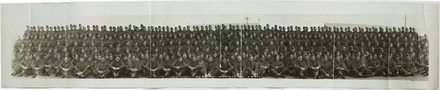 Group photograph Third (3rd) Echelon New Zealand Artillery, Papakura 1940 (Panorama)