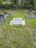 Memorial stone at Waikumete Cemetery for 66110 Leslie Jackson (on Mary Ann Jackson's headstone) broad view. No Known Copyright.