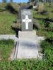 Gravestone at Waikumete Cemetery for 70233 George Burkitt broad view. No Known Copyright.