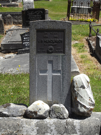 Gravestone at Arrowtown Cemetery for 2056 John Henderson. No Known Copyright.