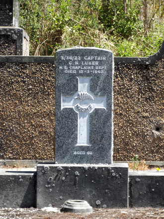 Gravestone at Arrowtown Cemetery for 3/36/23 Christopher Luker. No Known Copyright.