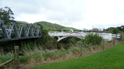 ANZAC Bridge at Kaiparoro, near Eketahuna - broad view. No Known Copyright.