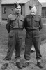 Darcy Gardiner s/n 800706 (l) and Jack (r) standing outside barracks. (Collection of Darcy Gardiner (800706)) . Image provided by Brian Gardiner. This image may be subject to copyright.