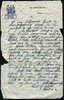 Letter from Lance Bombader Albert Harry Baker (S/N 49307) Middle East Forces to his sister Eileen Utting page 4. This image may be subject to copyright.