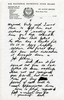 photocopy of letter from Albert Henry Baker (s/n 49307) to his mother Ella Baker dated 17 October 1943. 3 of 3. No Known Copyright.