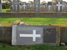 Headstone (broken) of Sergeant Axel Askenbeck s/n 23/2540, at Bromley Cemetery, Christchurch. Image provided by Sarndra Lees, June 22, 2014. Image has All Rights Reserved.